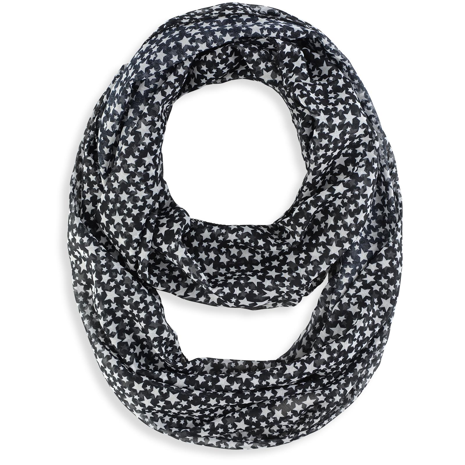 979bb6d52130 Foulard snood étoiles Noir - Douceur et légèreté