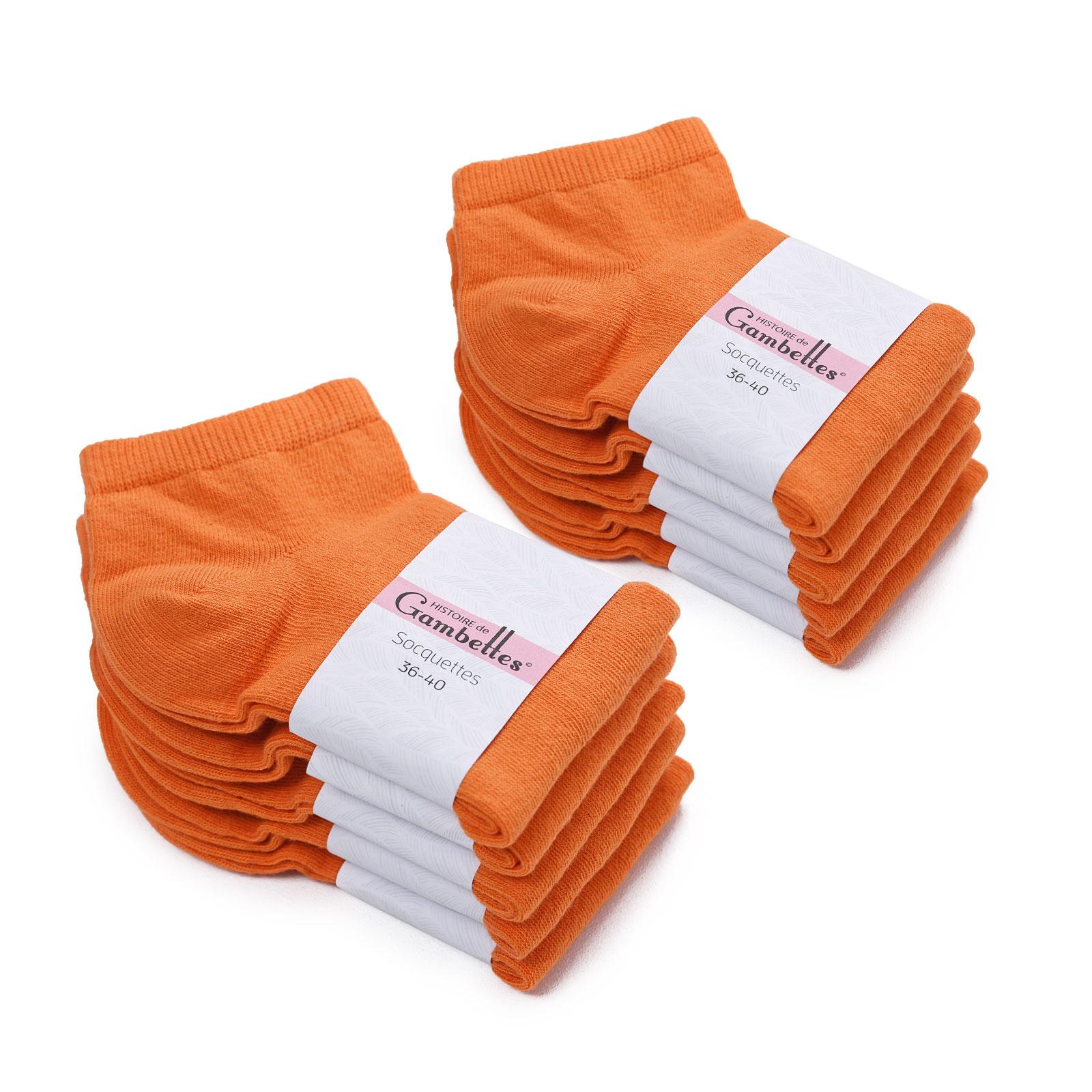 CH-00342-F16-soquettes-femme-coton-orange-10-paires