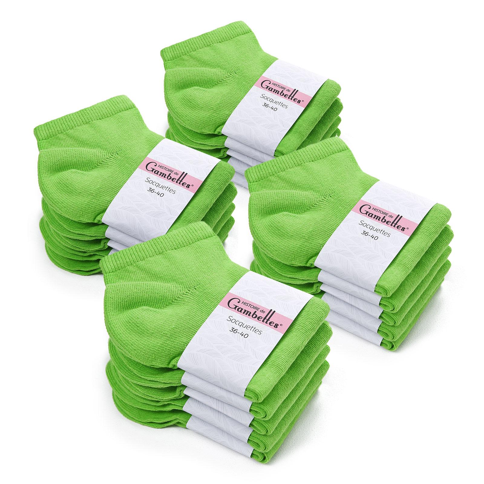 soquettes-femme-coton-vert-pomme-20-paires