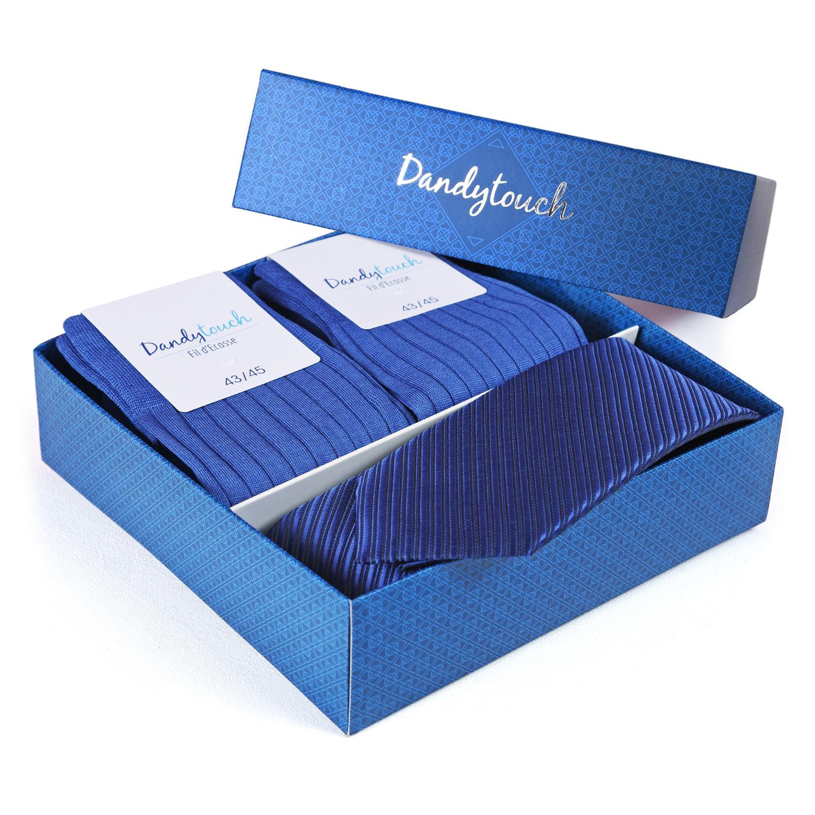 PK-00081-B16-coffret-cadeau-chaussettes-fil-ecosse-cravate-bleu