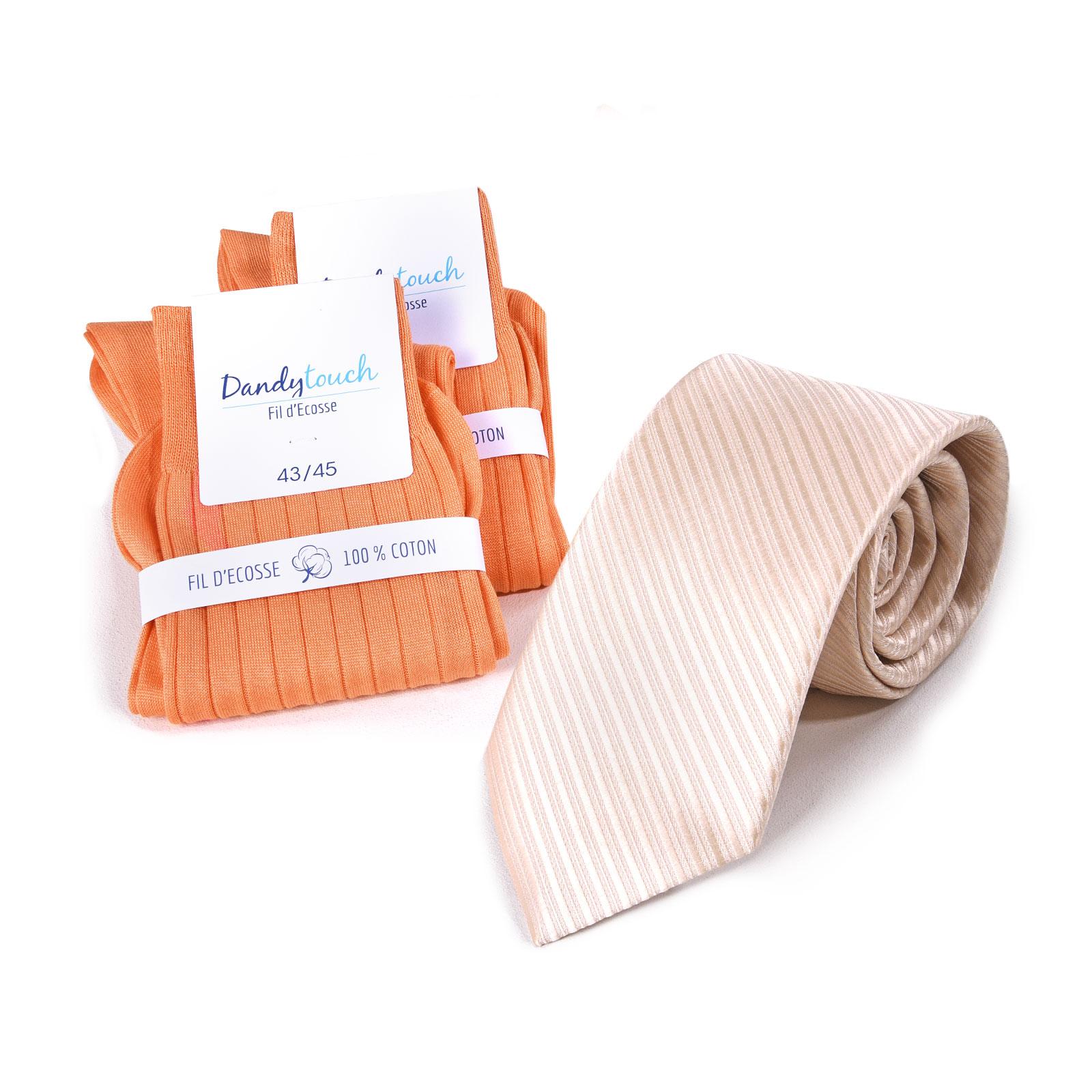 PK-00082-F16-ensemble-cravate-faux-uni-chaussettes-orange