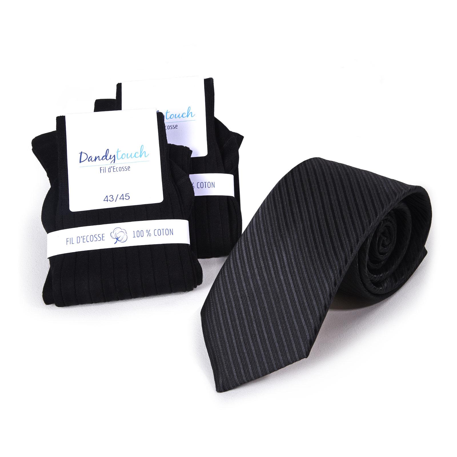 PK-00080-F16-ensemble-chaussettes-fil-ecosse-noir+cravate