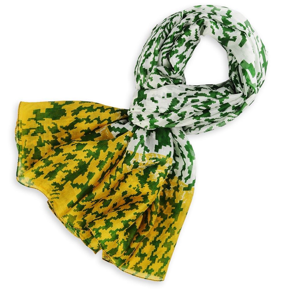 AT-01113-F10-etole-soie-indienne-abstrait-vert-jaune