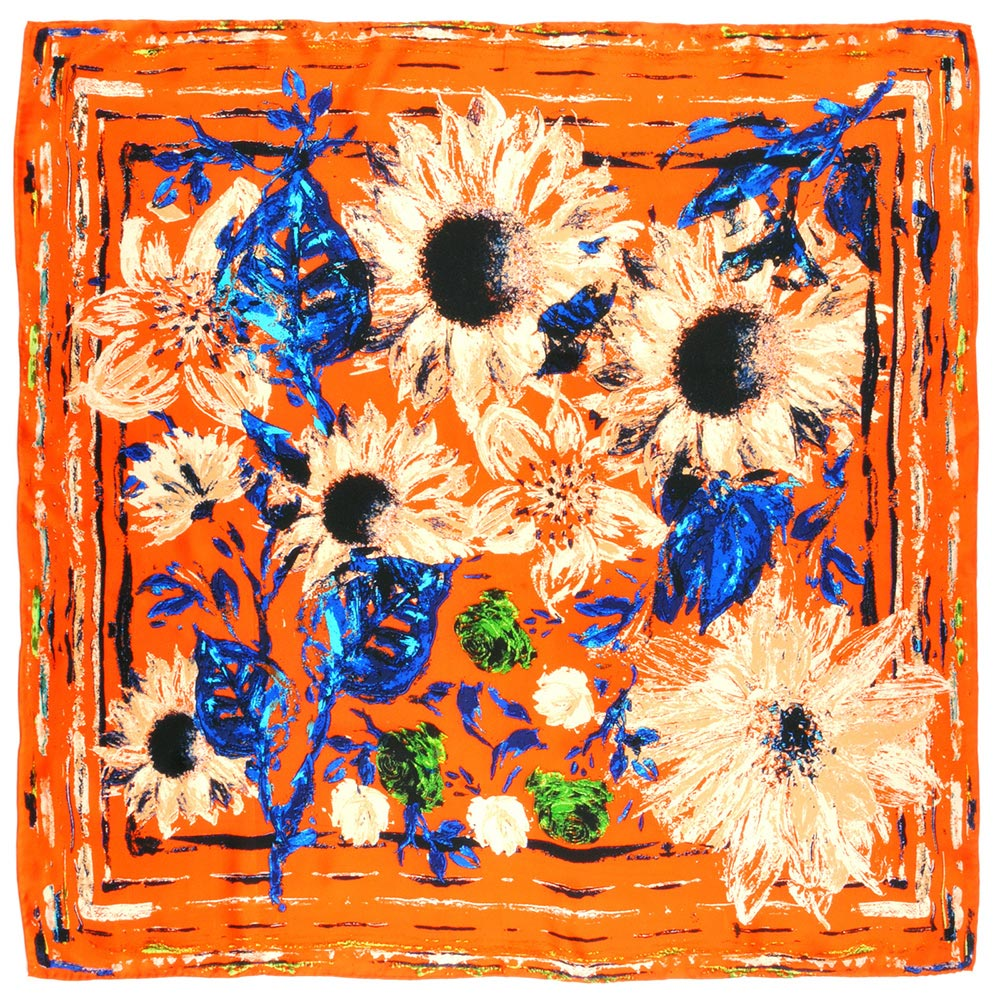 AT-01953-A10-foulard-carre-de-soie-tournesons-orange