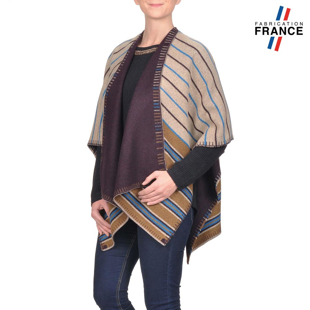 AT-03193-VF10-P2-LB_FR-poncho-femme-reversible-taupe-fabrication-france