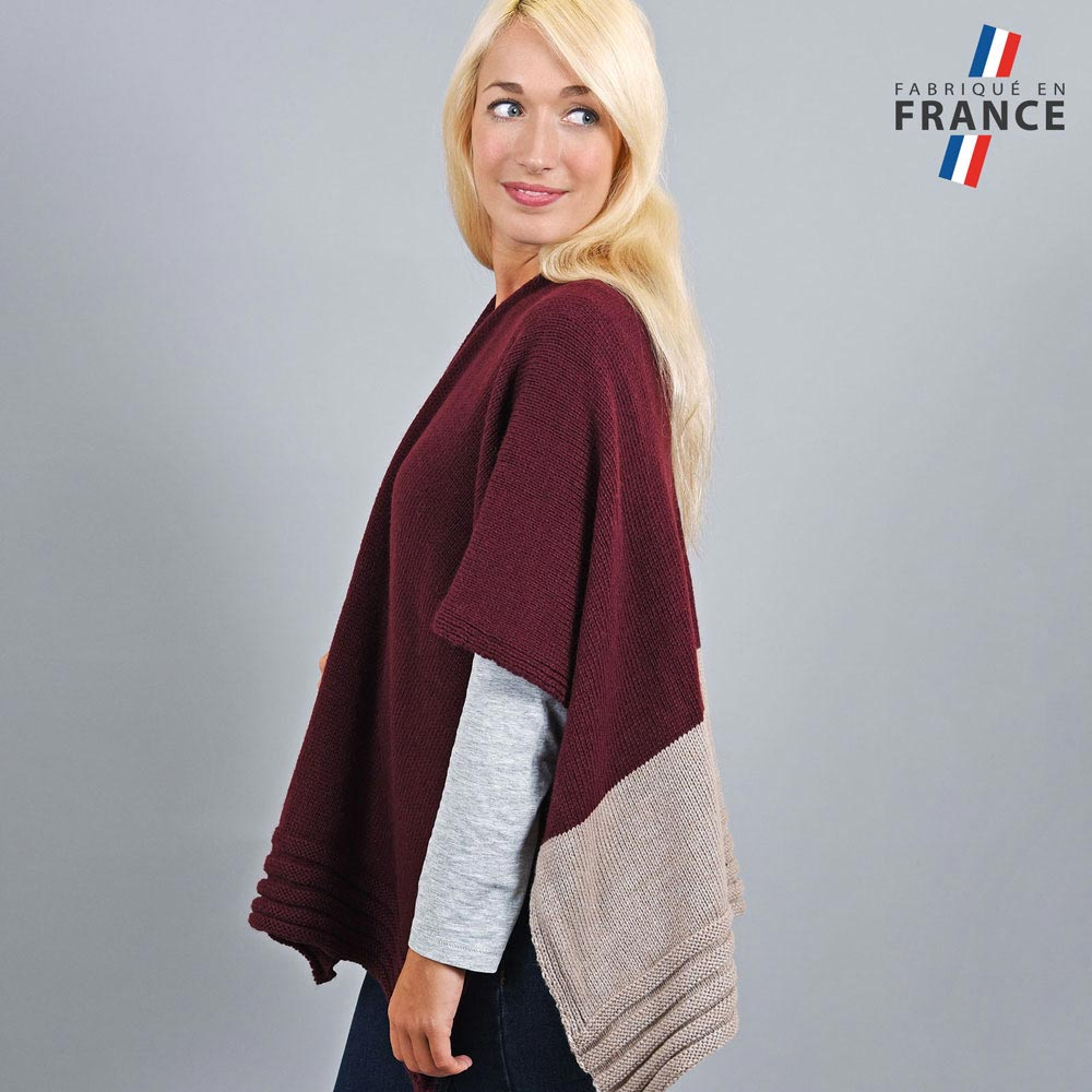 AT-03198-VF10-2-LB_FR-poncho-gilet-bordeaux-beige-fabrication-francaise
