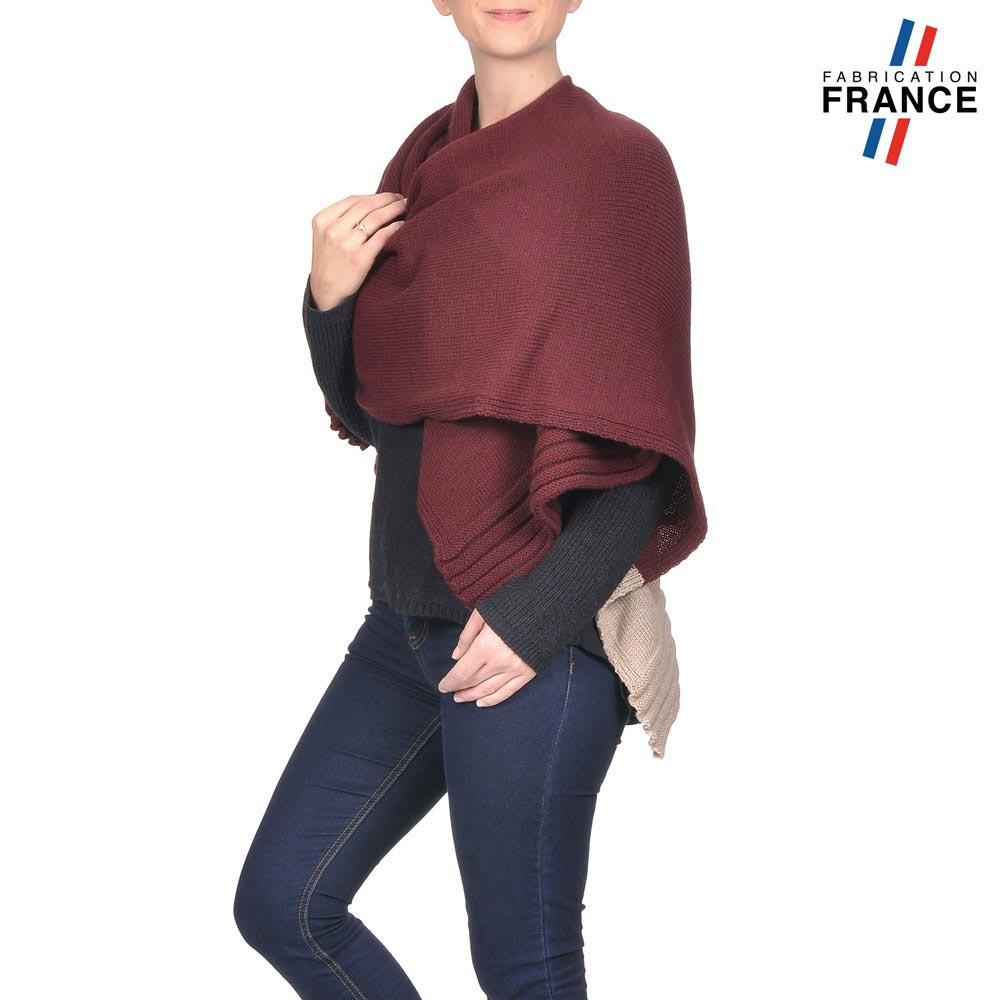 AT-03198-VF10-LB_FR-poncho-gilet-bordeaux-beige-fabrication-francaise