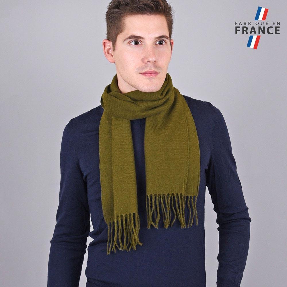 AT-03236-VH10-LB_FR-echarpe-franges-kaki-homme-fabrication-francaise