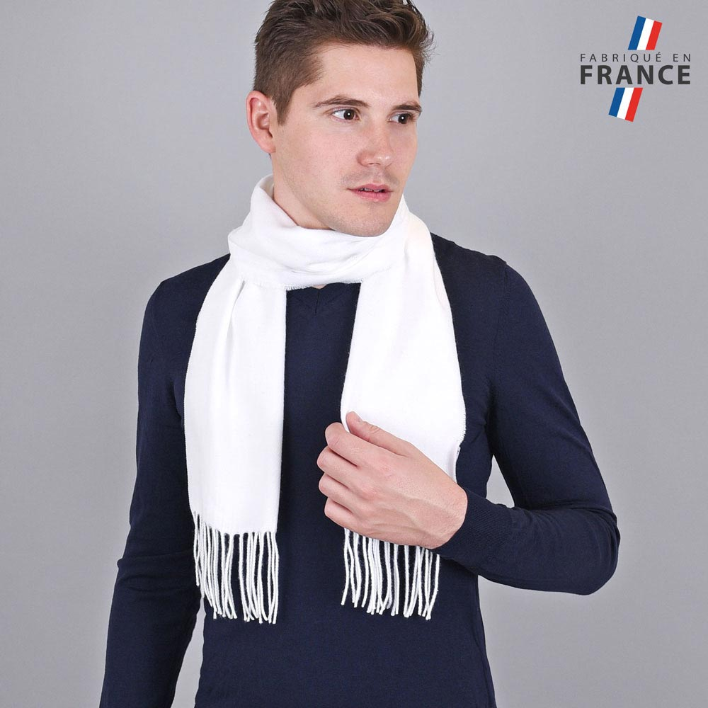 AT-03432-VH10-LB_FR-echarpe-homme-blanche-franges-fabrication-france