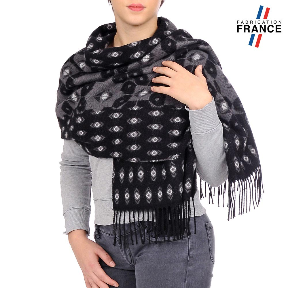 AT-03463-VF10-P-LB_FR-chale-femme-motifs-geometriques-noir-gris