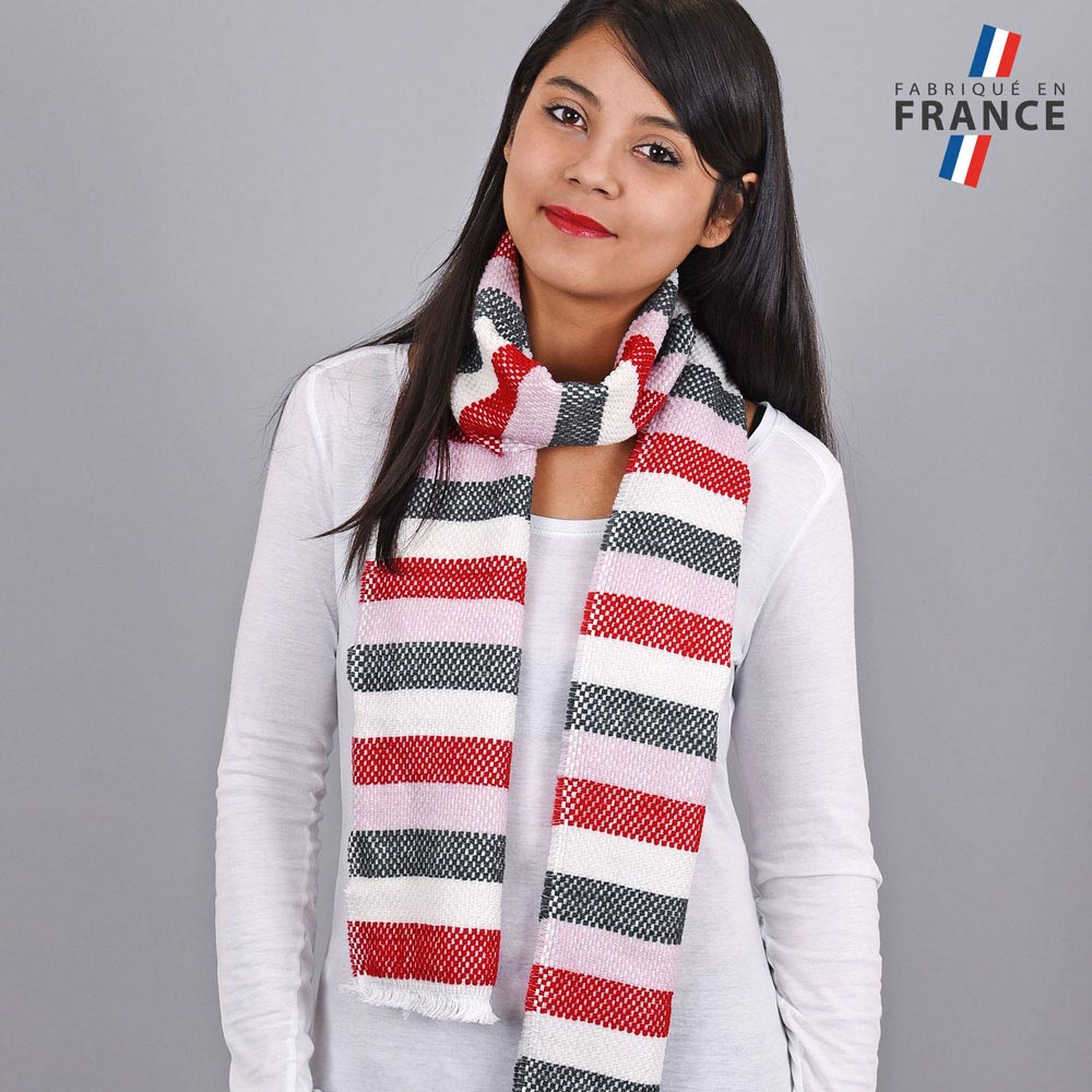 AT-03486-VF10-LB_FR-echarpe-rayures-rouge-rose-fabrication-france