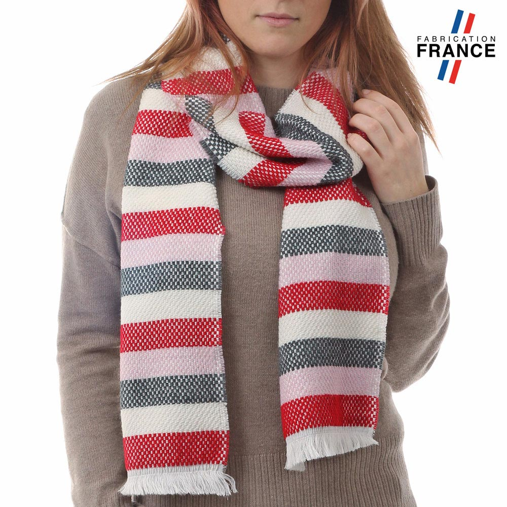 AT-03486-VF10-P-LB_FR-echarpe-rayures-rouge-rose-fabrication-france