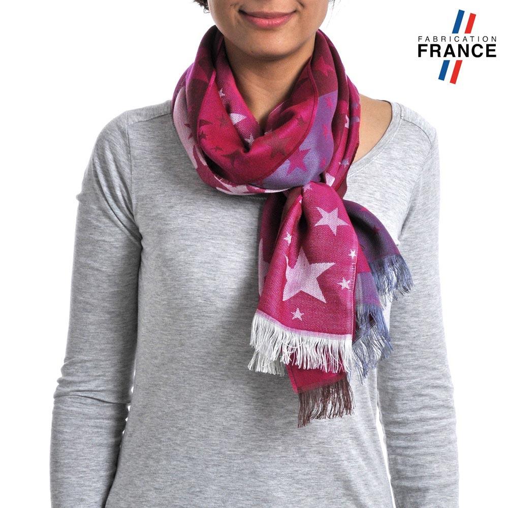 AT-03661-fuchsia-VF10-P-LB_FR-echarpe-legere-etoiles-rose-fuchsia-fabrique-en-france
