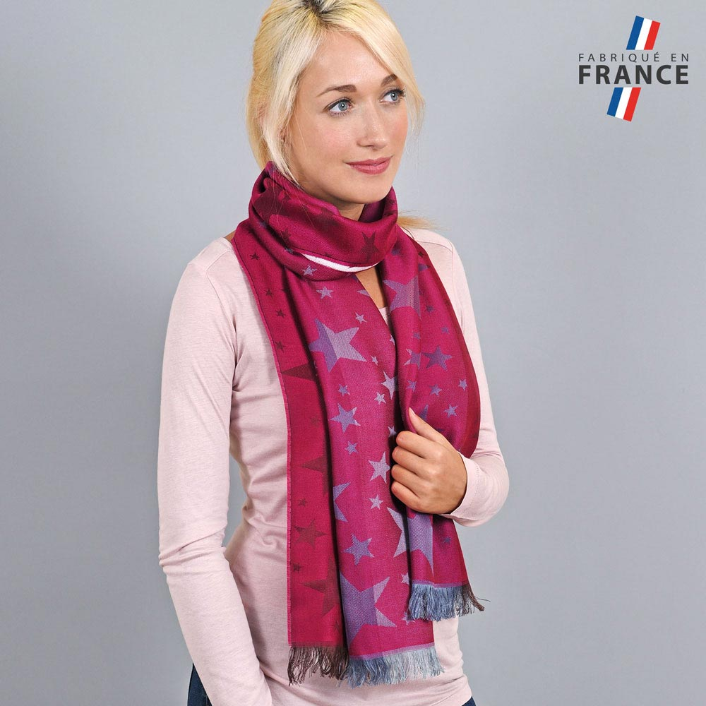 AT-03661-VF10-LB_FR-echarpe-legere-etoiles-rose-fuchsia-fabrique-en-france