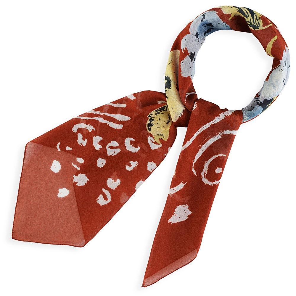AT-03694-marron-F10-foulard-carre-mousseline-fleurs-fauve-marron