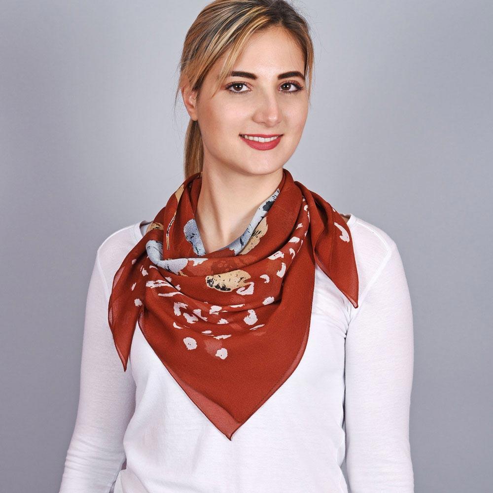 AT-03694-VF10-foulard-carre-mousseline-fleurs-fauve-marron