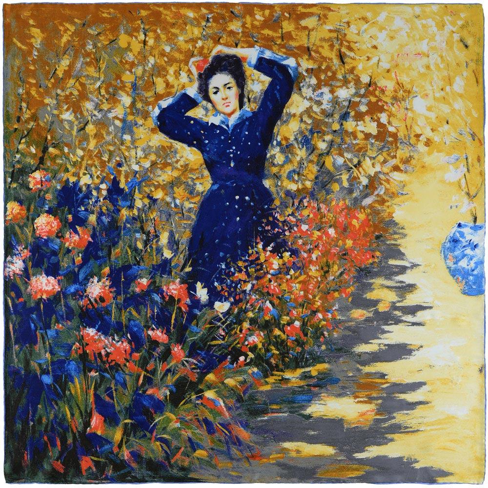 AT-03827-A10-carre-soie-premium-femme-en-bleu