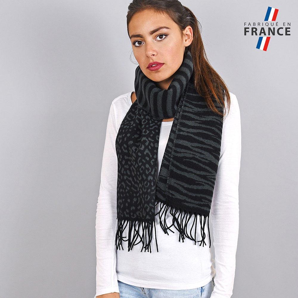 AT-03938-VF10-LB_FR-echarpe-femme-noire-zebre-leopard