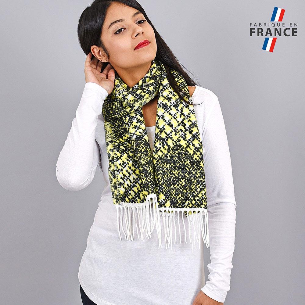 AT-03943-VF10-LB_FR-echarpe-femme-verte-graphique