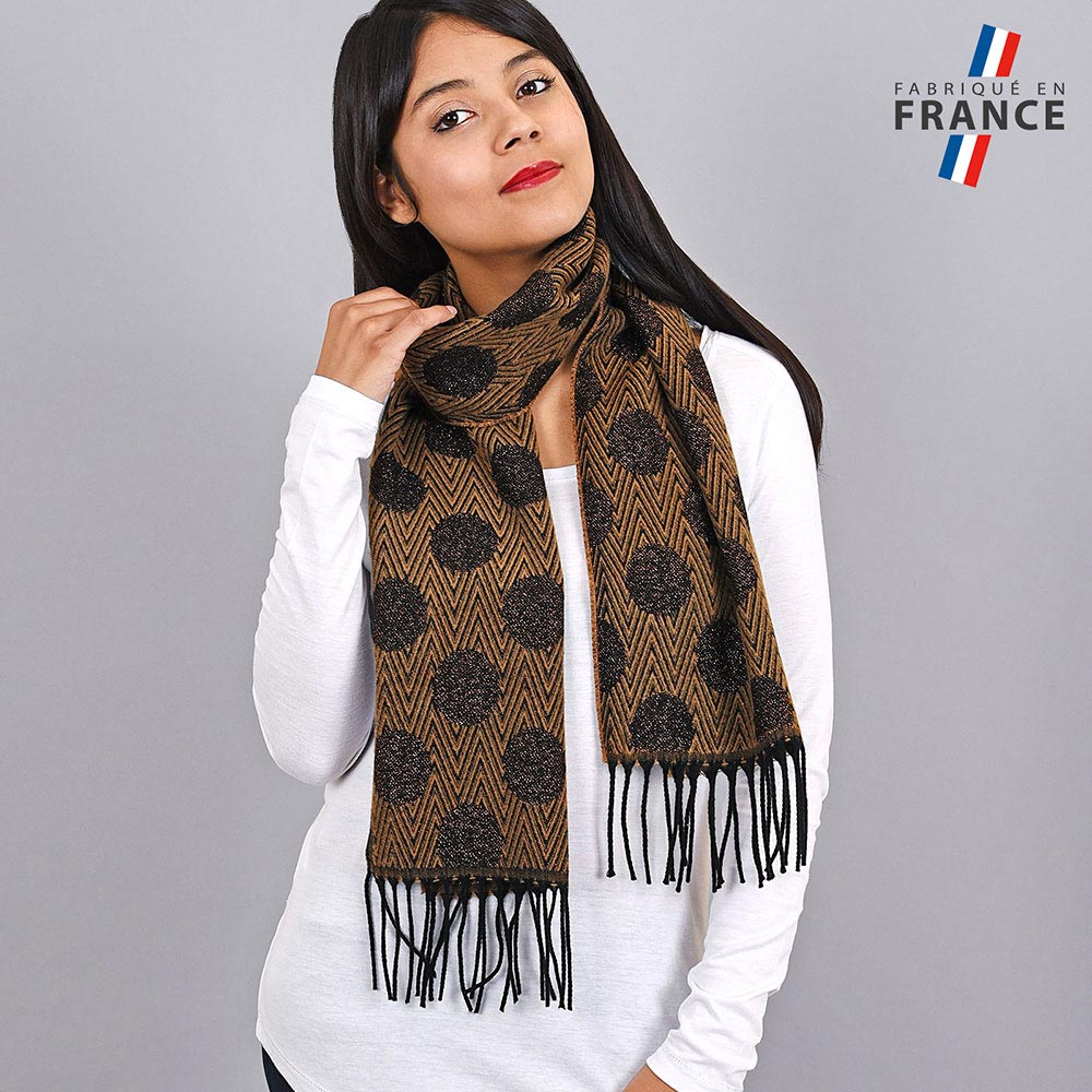AT-03946-VF10-LB_FR-echarpe-pois-marron-paillettes