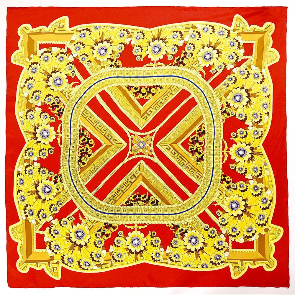 AT-04053-A10-carre-de-soie-fleurs-geometriques-rouge