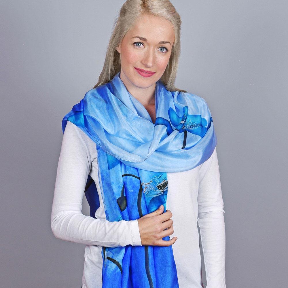 AT-04119-VF10-1-etole-soie-bleue-nenuphars