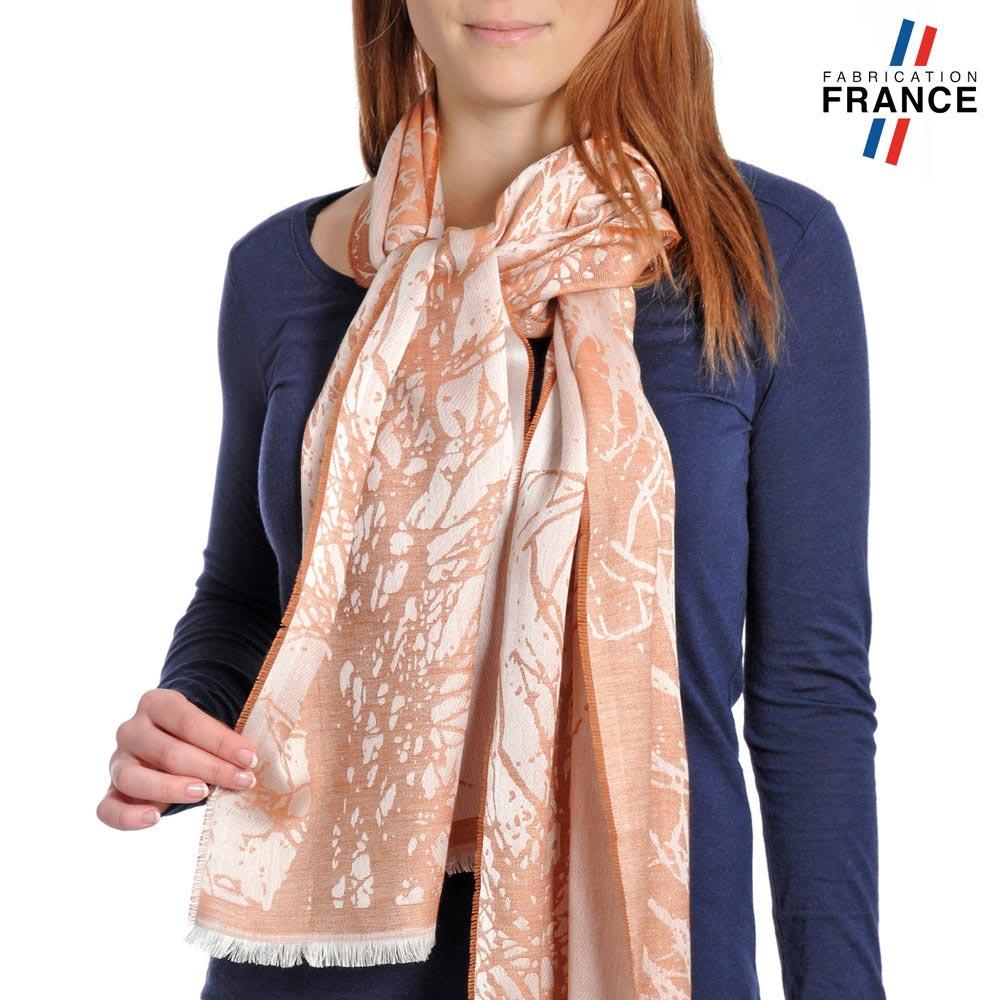 AT-04182-VF10-P-LB_FR-echarpe-branchages-orange-saumon-qualicoq-fabrication-france
