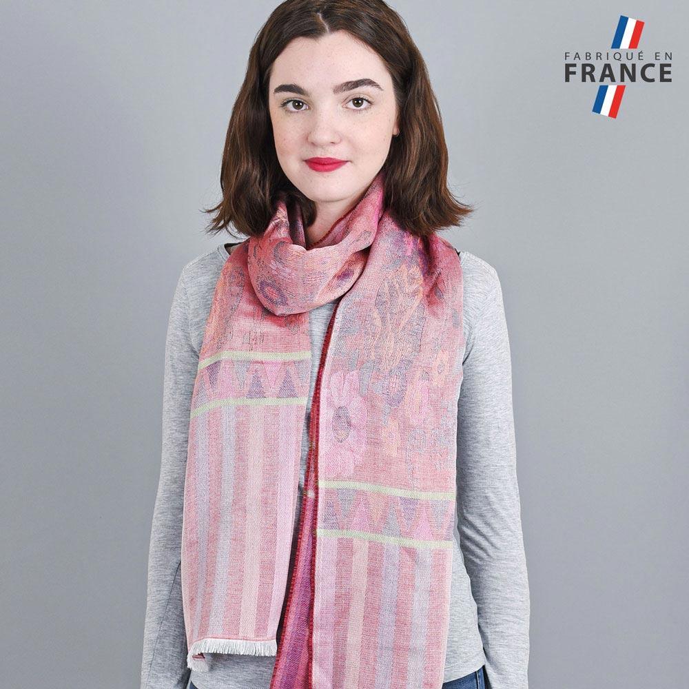 AT-04232-VF10-LB_FR-echarpe-legere-fabriquee-en-france-bandes-fleurs-rouge-pourpre