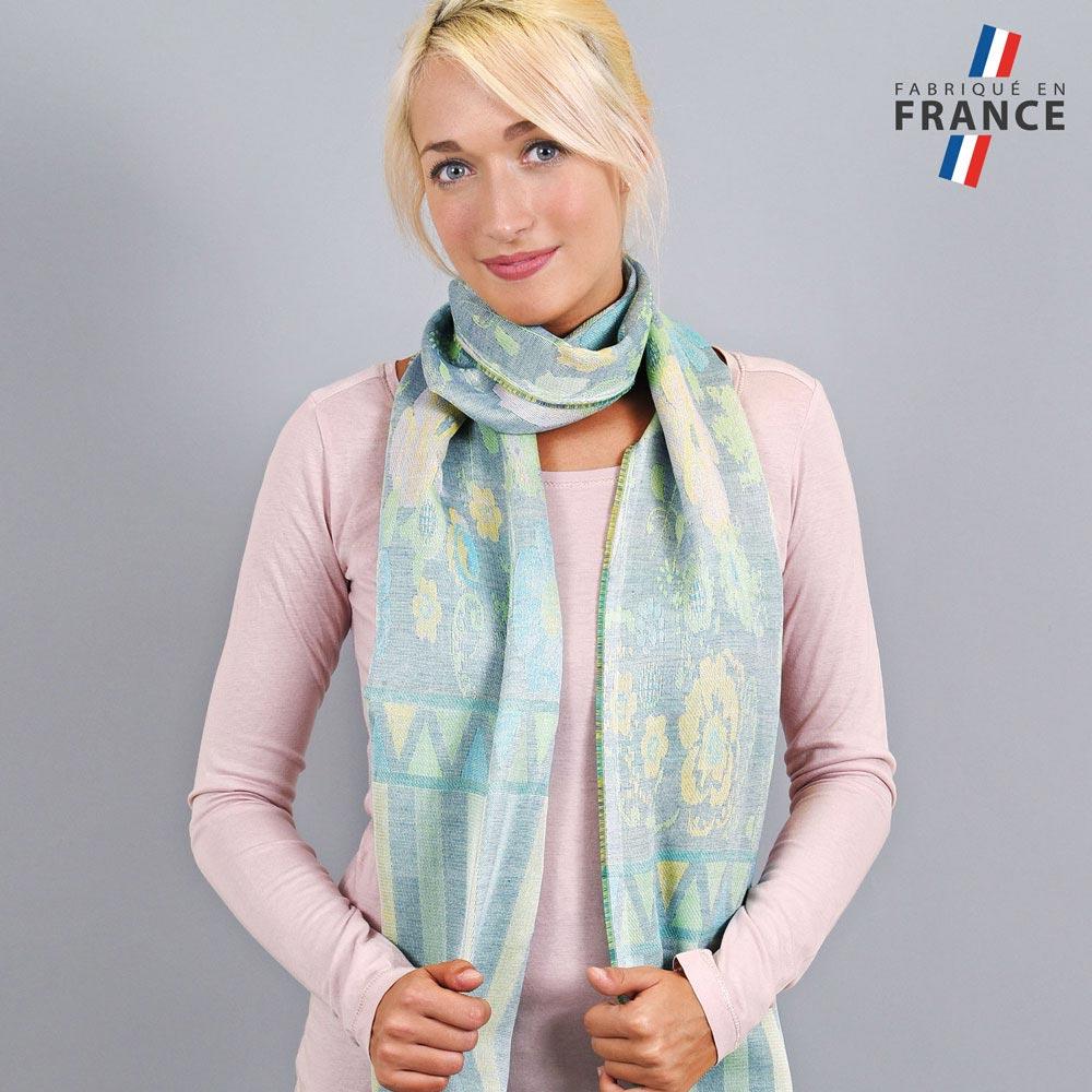AT-04233-VF10-LB_FR-echarpe-legere-fabriquee-en-france-bandes-fleurs-vert-bleu