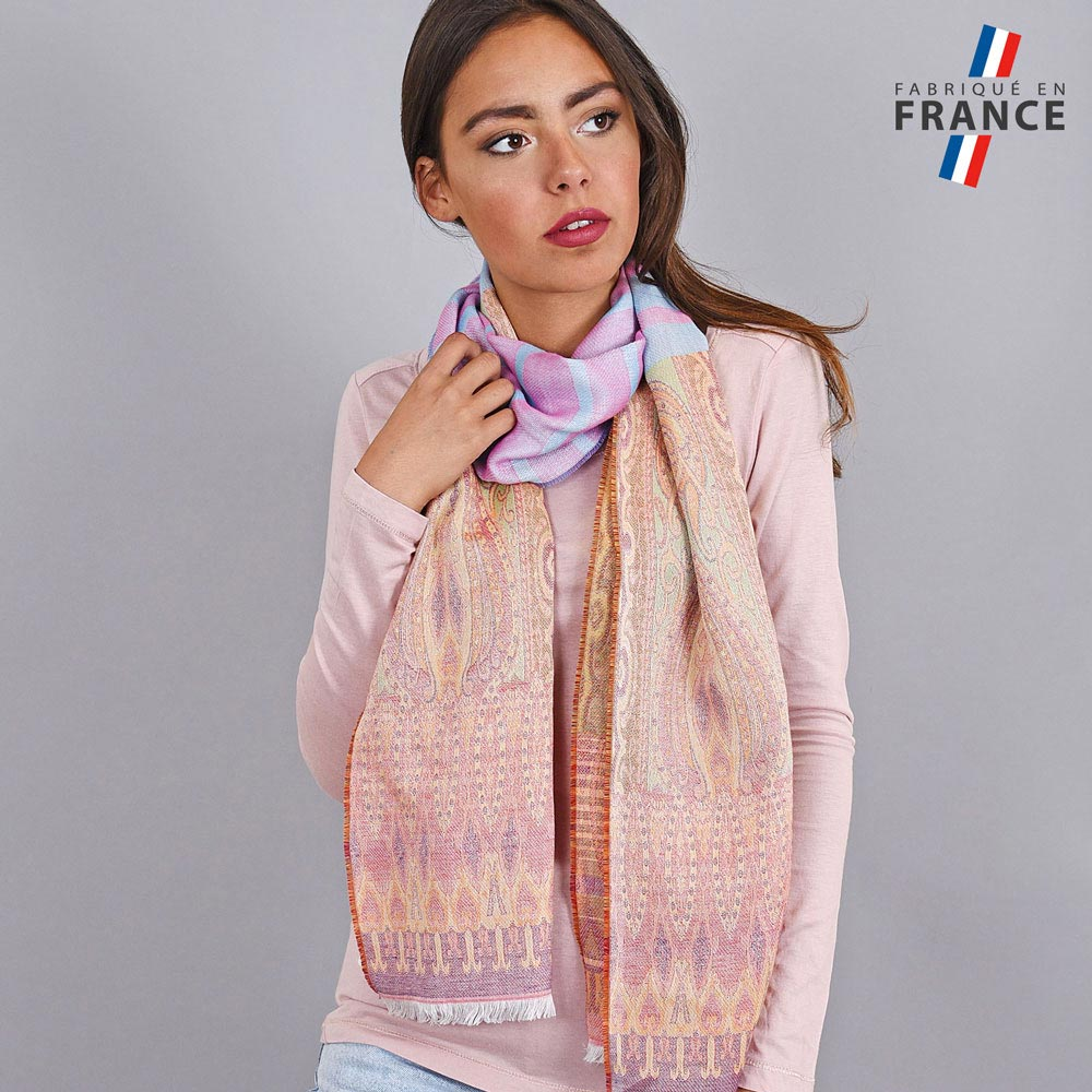 AT-04240-VF10-LB_FR-echarpe-legere-fabriquee-france-motifs-indiens-bleu-orange