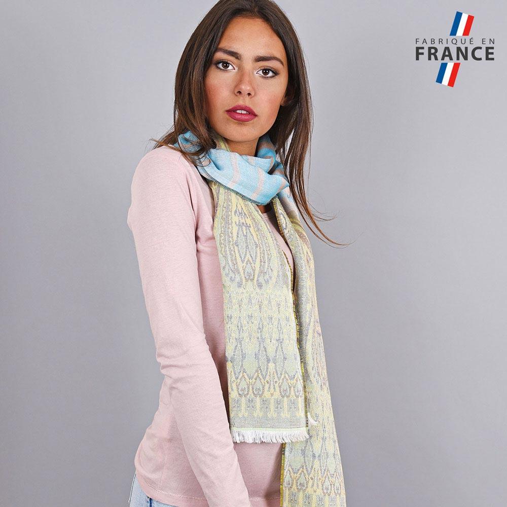 AT-04242-VF10-LB_FR-echarpe-legere-fabriquee-france-motifs-indiens-vert-bleu