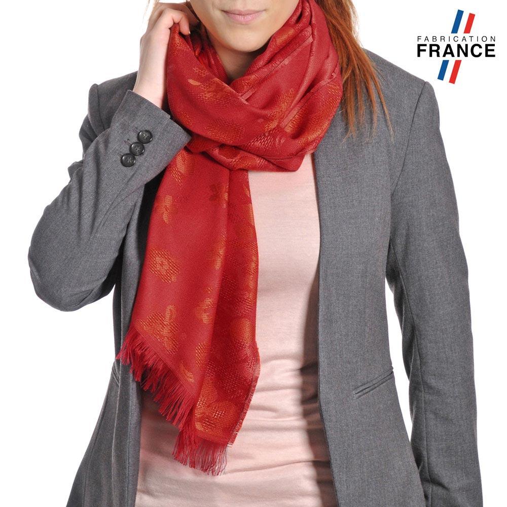 AT-04248-VF10-P-LB_FR-echarpe-femme-trefles-rouge-anglais-fabrication-france