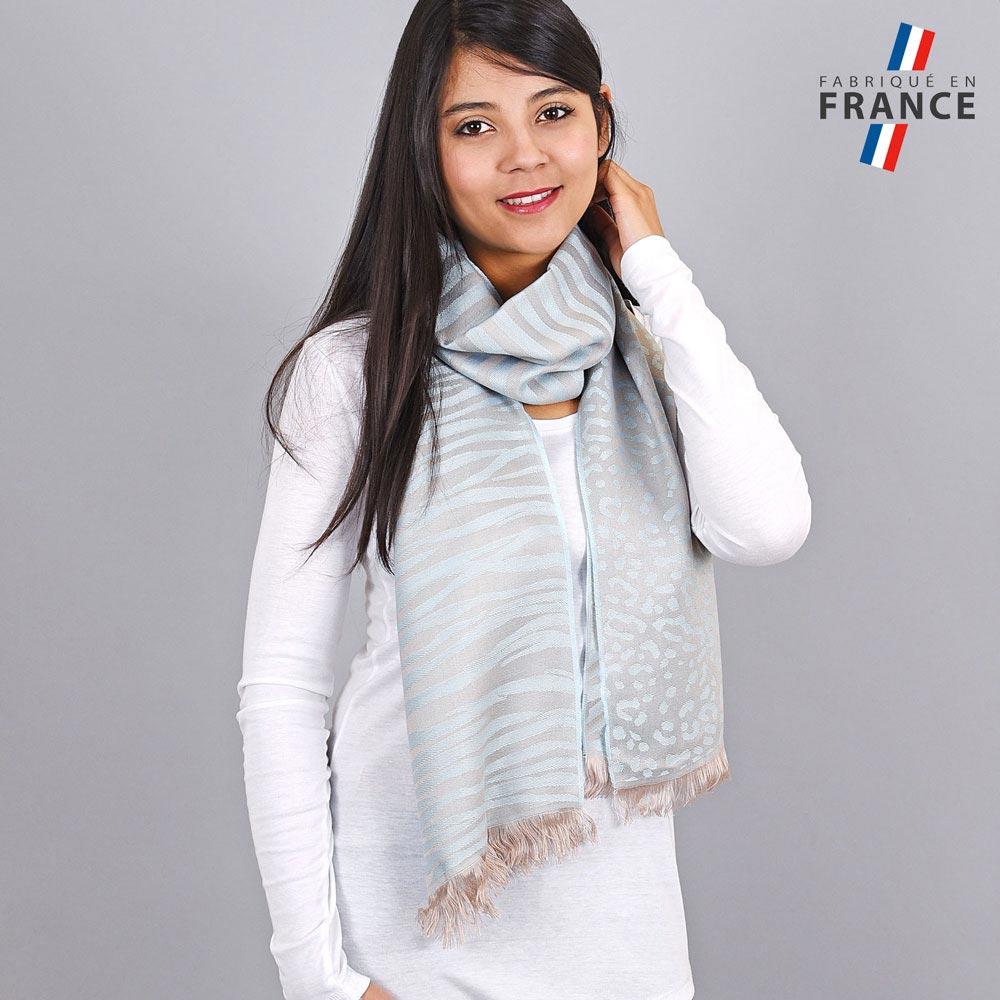 AT-04254-VF10-LB_FR-echarpe-legere-tigre-paillettes-bleu-ciel-taupe-qualicoq