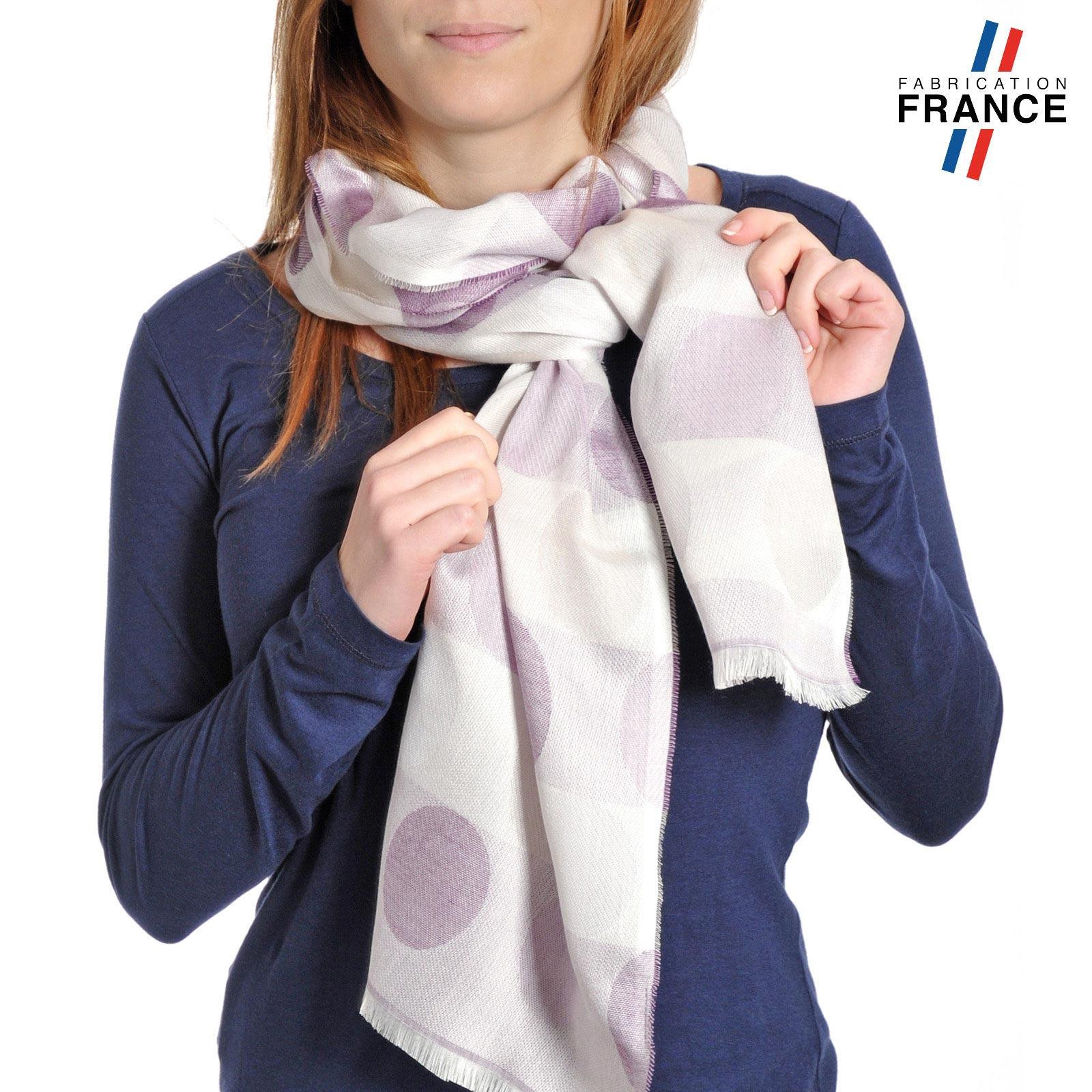 AT-04287-VF10-P-LB_FR-echarpe-legere-bulles-violet-mauve-fabrique-en-france