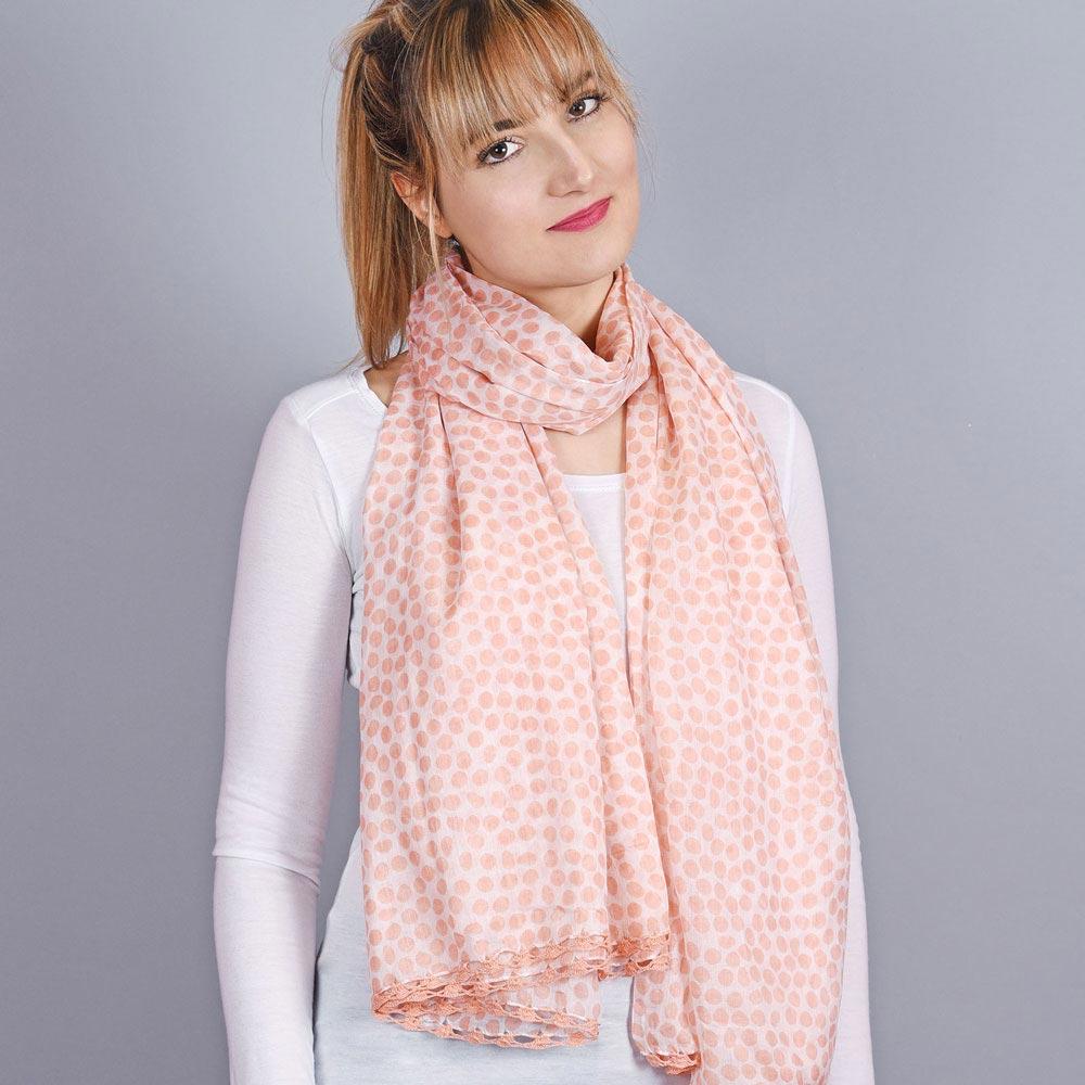 AT-04320-VF10-1-foulard-femme-pois-corail