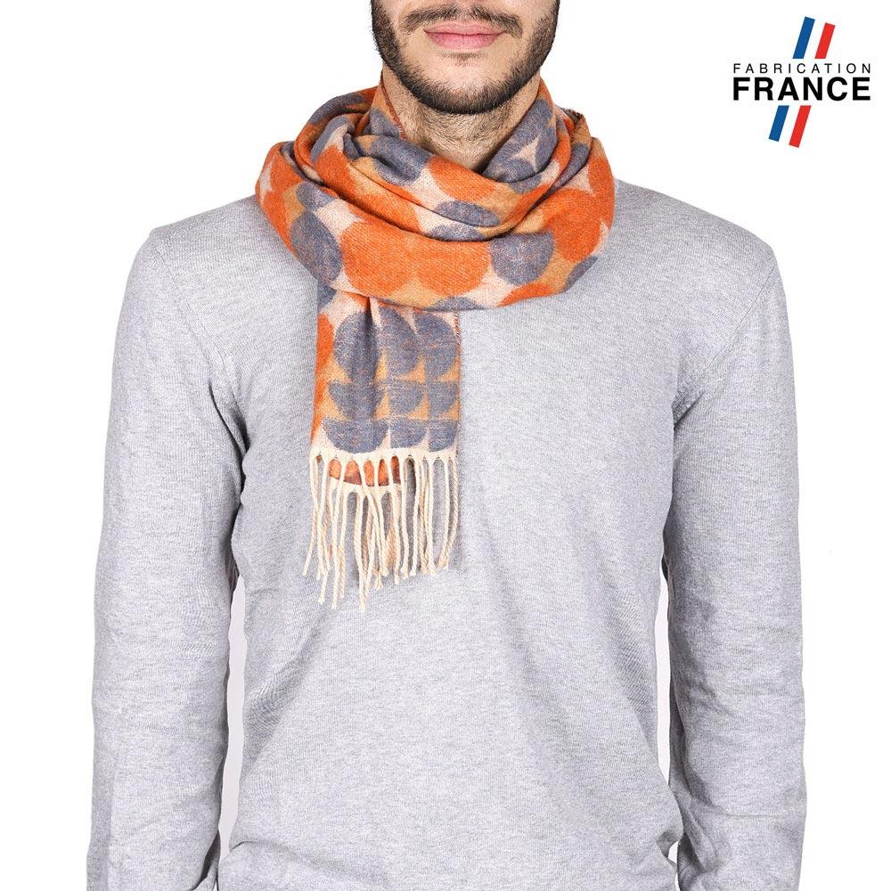 AT-04412-VH10-2-LB_FR-echarpe-homme-a-pois-orange