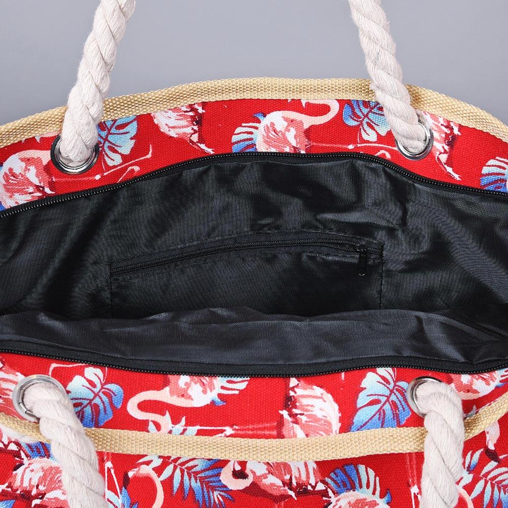 MQ-00151-D10-sac de plage-flamants rose
