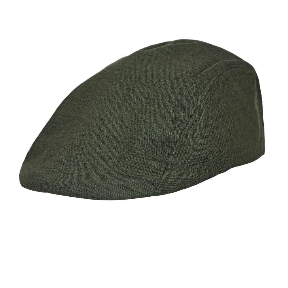 CP-00971-F10-casquette-plate-lin-homme-vert-kaki