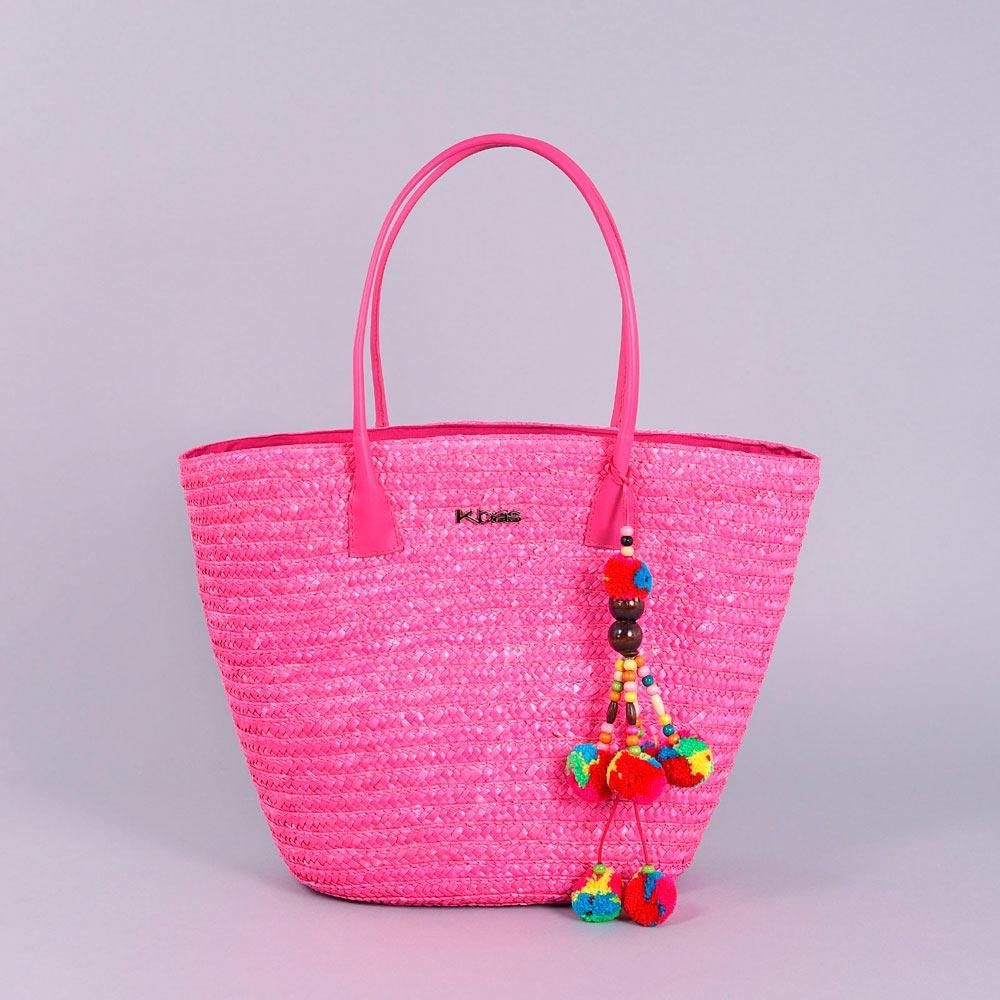 MQ-00116-fuchsia-F10-sac-paille-rose-plage