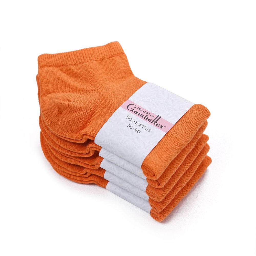 CH-00341-F10-soquettes-femme-coton-orange-5-paires