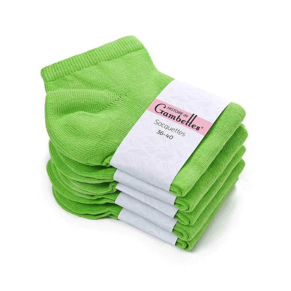 CH-00346-F10-soquettes-femme-coton-vert-pomme-5-paires