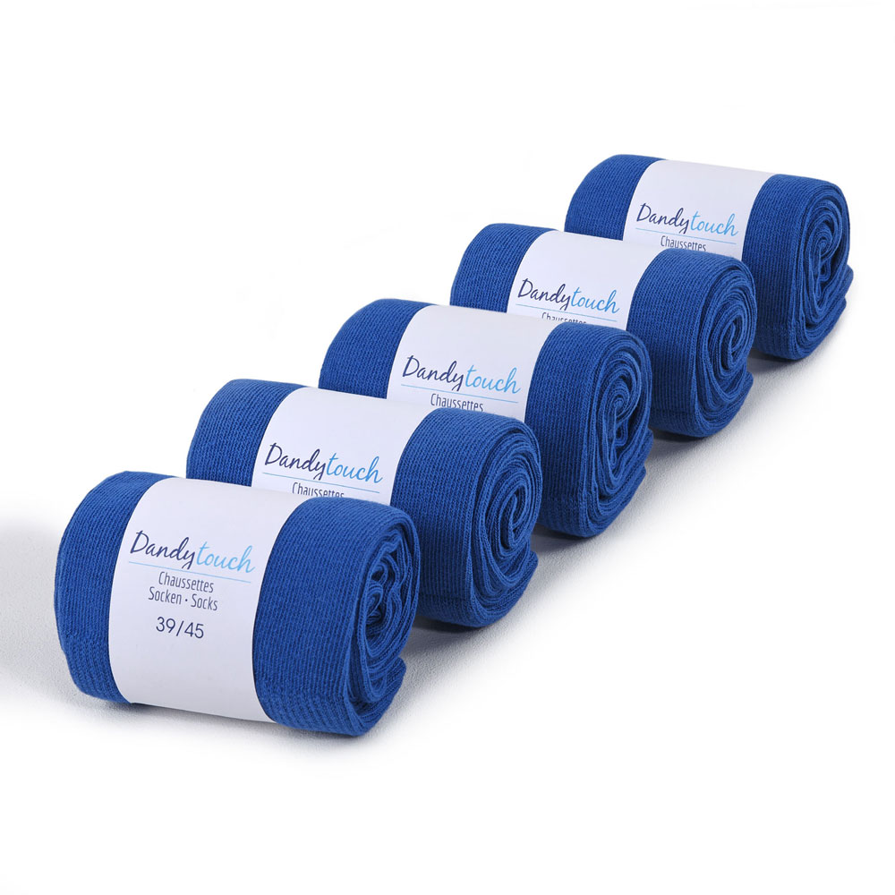 CH-00411-F10-lot-5-paires-de-chaussettes-homme-bleues-royales-unies