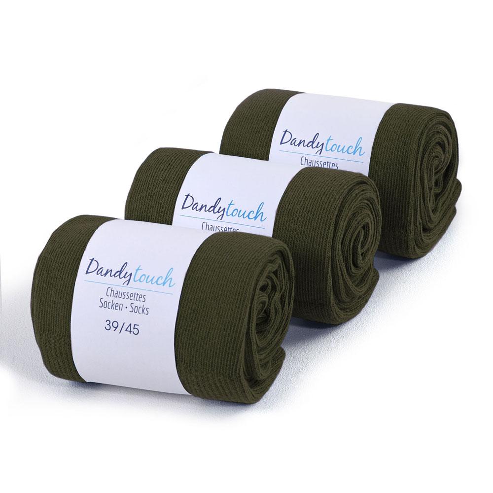 CH-00475-F10-lot-3-paires-de-chaussettes-homme-vert-kaki-unies