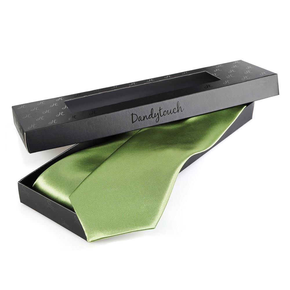 cravate vert tilleul uni