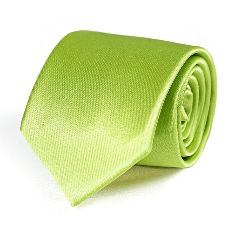 cravate vert anis uni