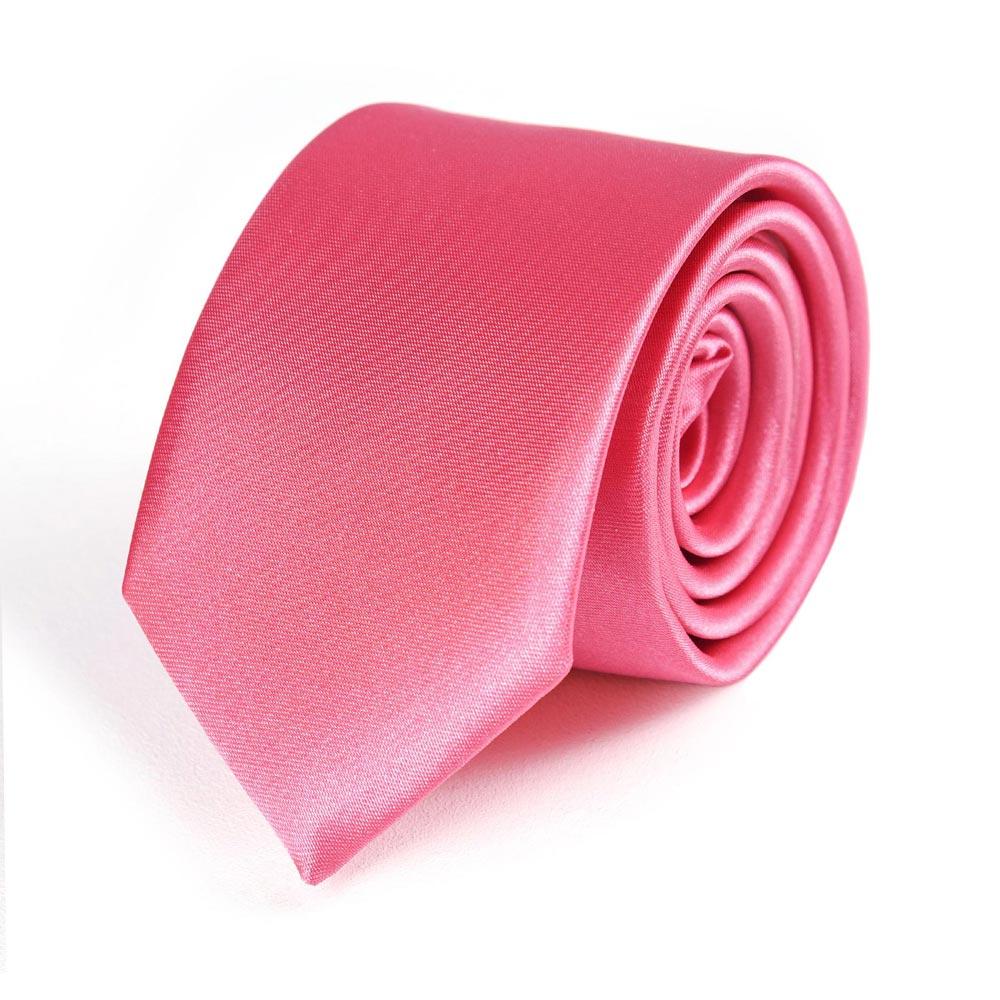 cravate fine rose indien