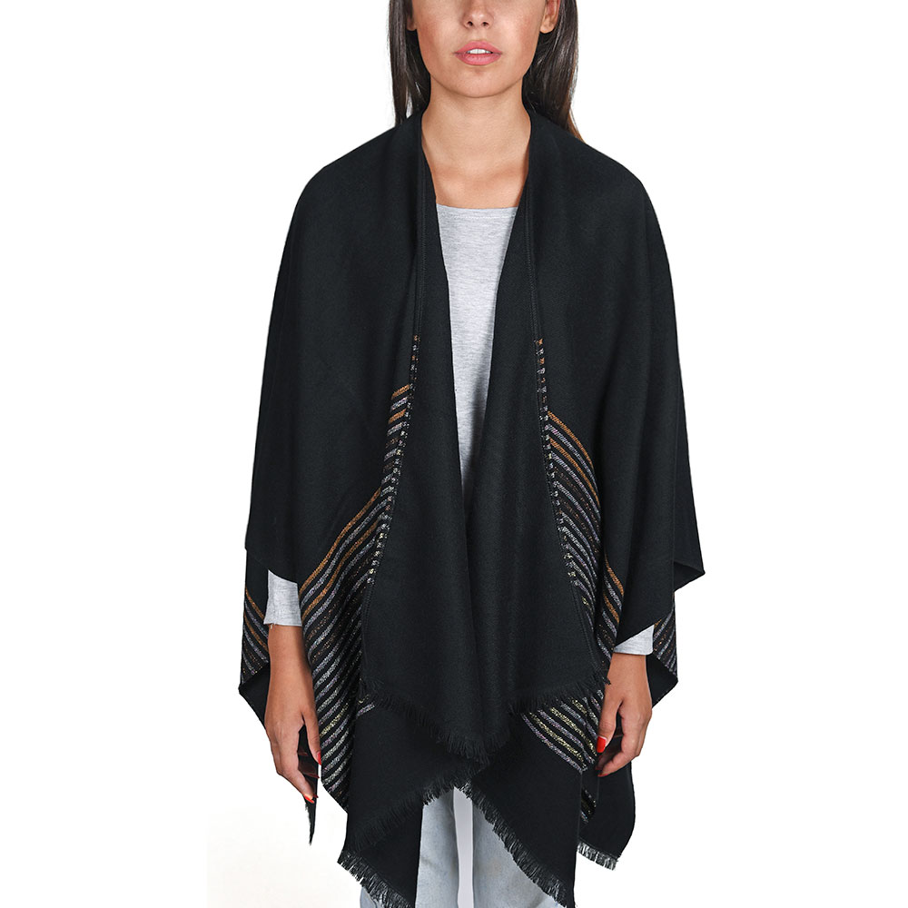 AT-04817-VF10-P-poncho-femme-noir-a-rayures