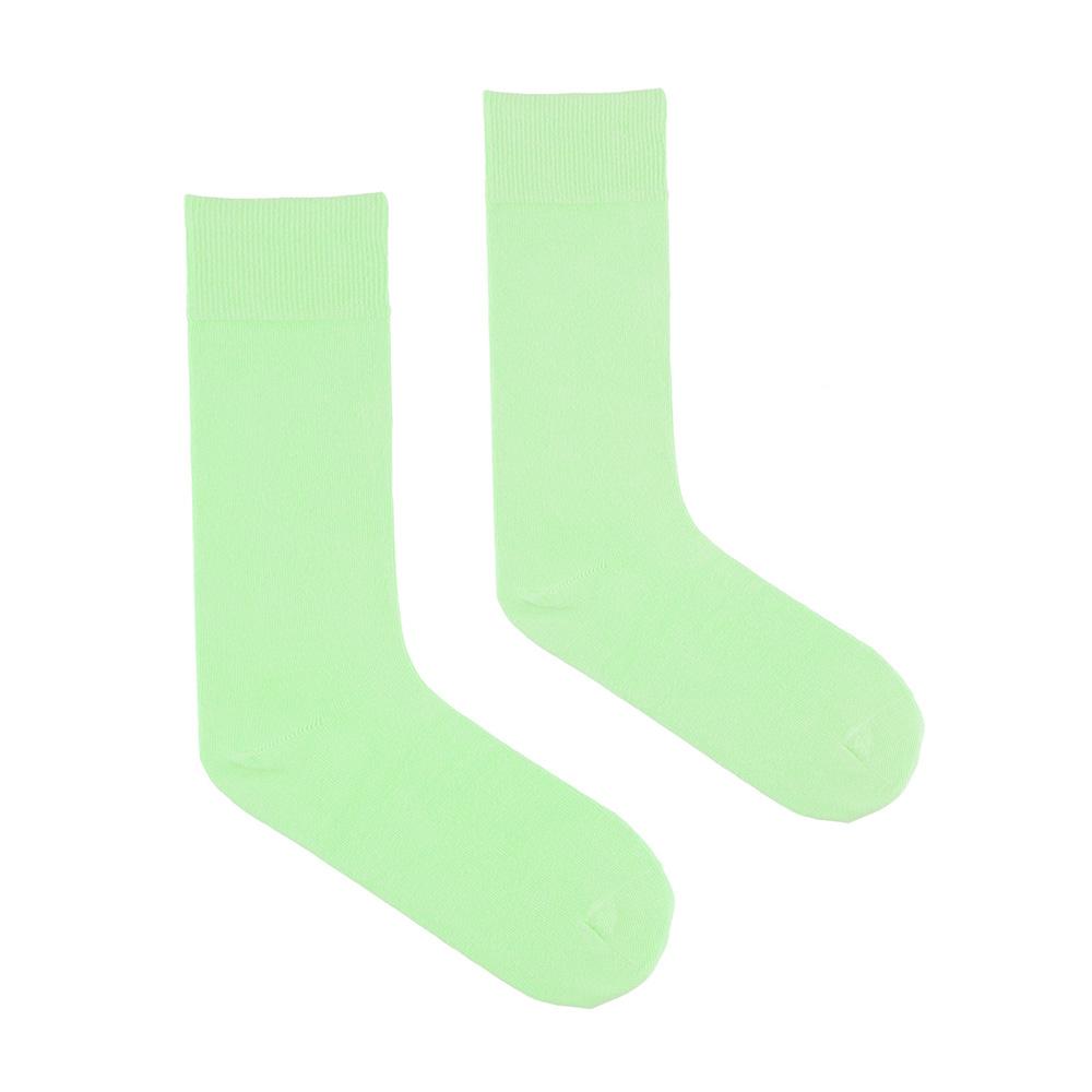 CH-00545-A10-chaussettes-homme-vertes-pomme-unies