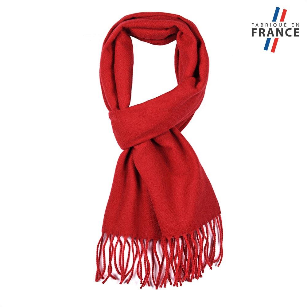 meilleur prix éclatant magasin d'usine Echarpe mixte Rouge, laine Angora - Made in France