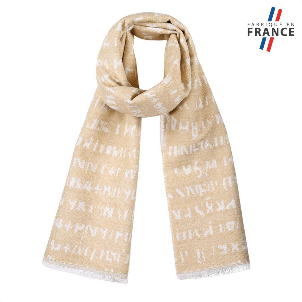 AT-05650-F10-FR-echarpe-fantaisie-beige-made-in-france